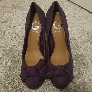 Guess eggplant purple heels